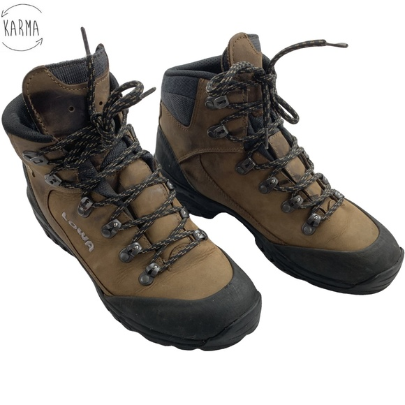 9a114595c8b Lowa Gore-Tex Brown Black Hiking Ankle Boots